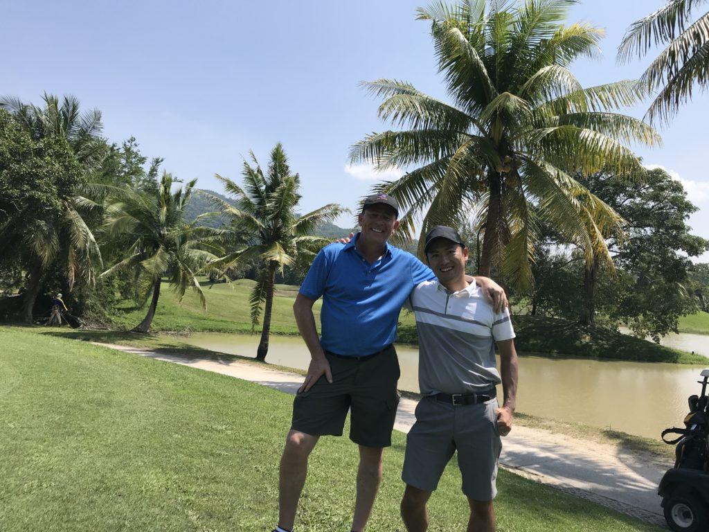 以前にタイのゴルフ場で一緒になったイギリス人ゴルファー by ゴルフリトリート